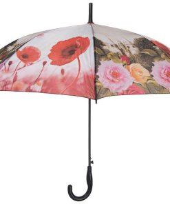 چتر شوان گلدار قرمز صورتی