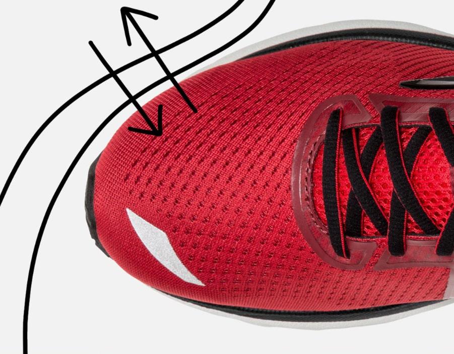 تنفش کفش هنگام ورزش